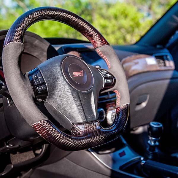 Subaru Impreza WRX STi 2012 Интериор Червен Карбон  Магазин Carbon Touch