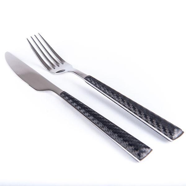 Carbon Fiber Dining Cutlery Set 2 pcs  Dobreff Design