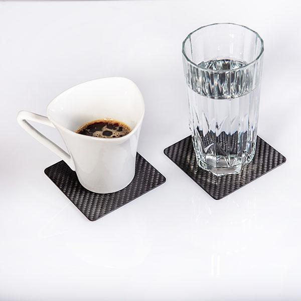 Карбонови подложки за чаши квадратни Магазин