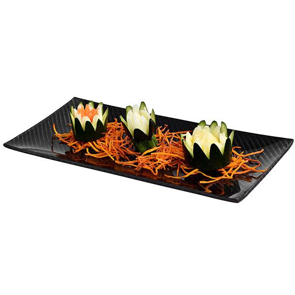 CARBON FIBER DINING PLATE RECTANGULAR 13 x 27 cm Shop