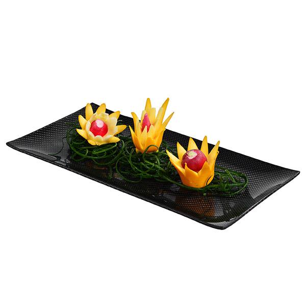 Carbon Fiber Dining Plate Rectangular 17 x 34 cm Shop