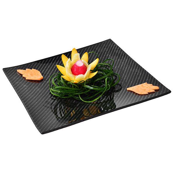 Карбонова чиния за хранене квадратна 20 х 20 см Магазин Dobreff Design