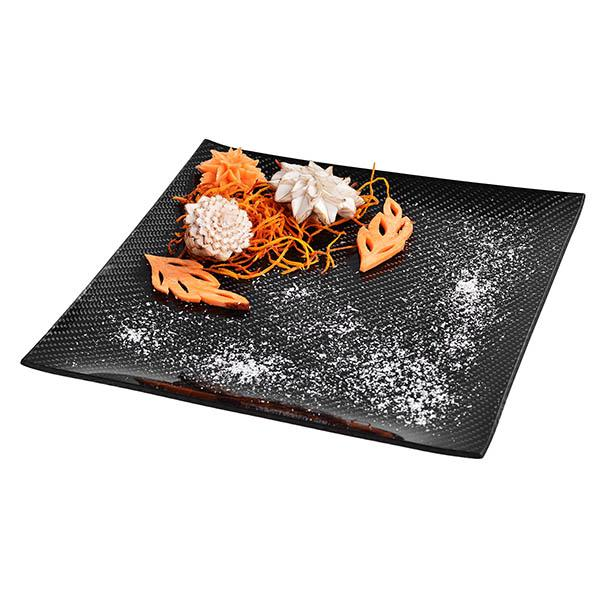 Carbon Fiber Dining Plate Square 25 x 25 cm Shop