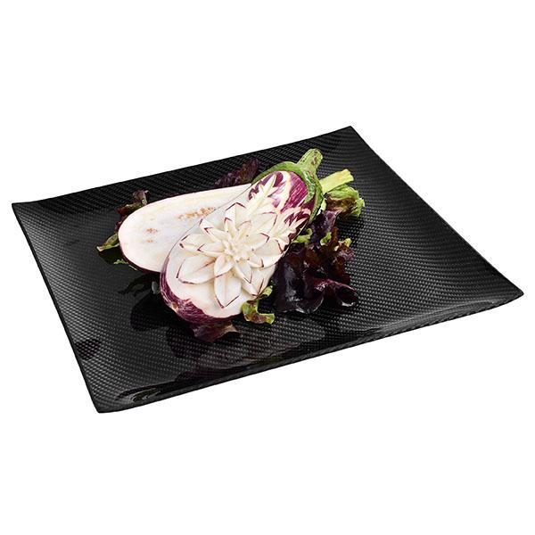 Carbon Fiber Dining Plate Square 30 X 30 CM Shop