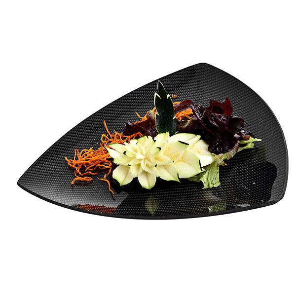 Carbon Fiber Dining Plate Triangle 29 X 29 X 29 CM Shop