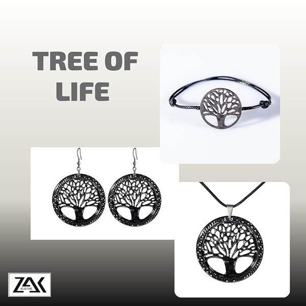 Комплект карбонови бижута Tree of Life Магазин Zak Code