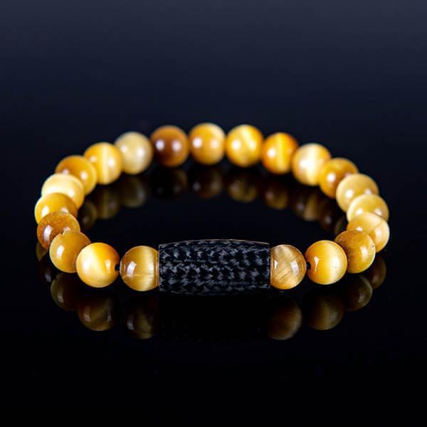 Карбонова гривна Tiger`s Eye Yellow Магазин Zak Code