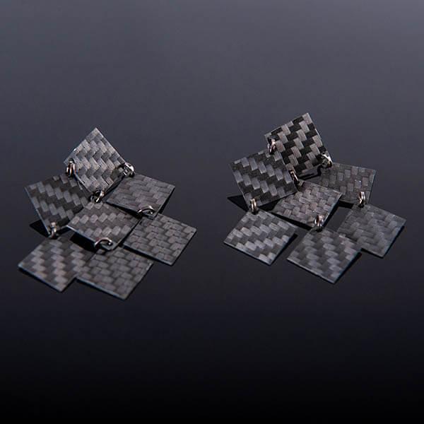 Карбонови обеци Diamonds Магазин Zak Code