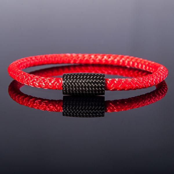 Carbon Fiber Bracelet Surf Cord Red Shop