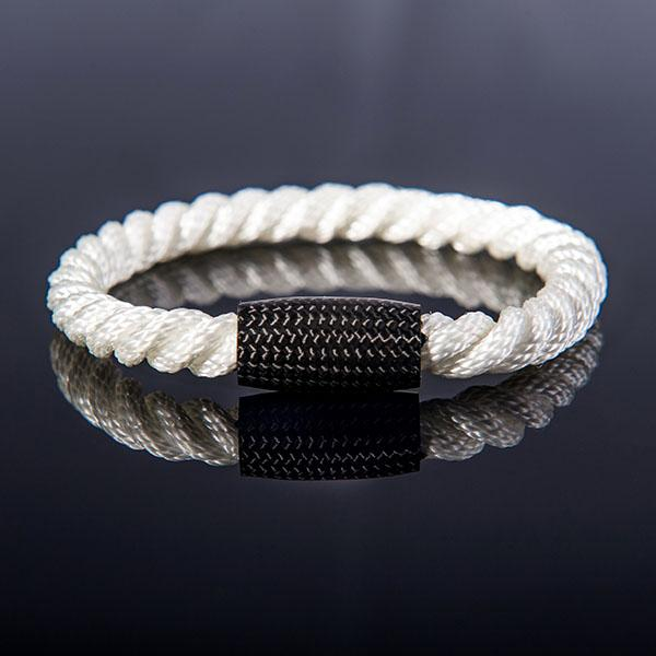 Carbon Fiber Bracelet Twisted Rope White Shop