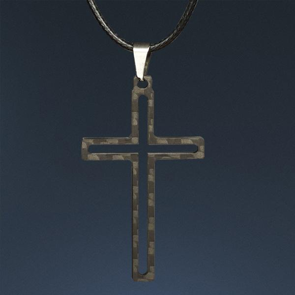 Carbon Fiber Pendant Cross