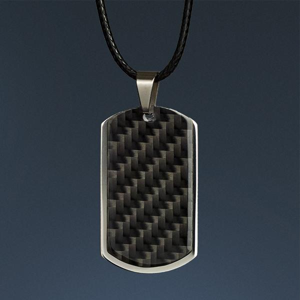 Carbon Fiber Pendant Dog Tag Shop