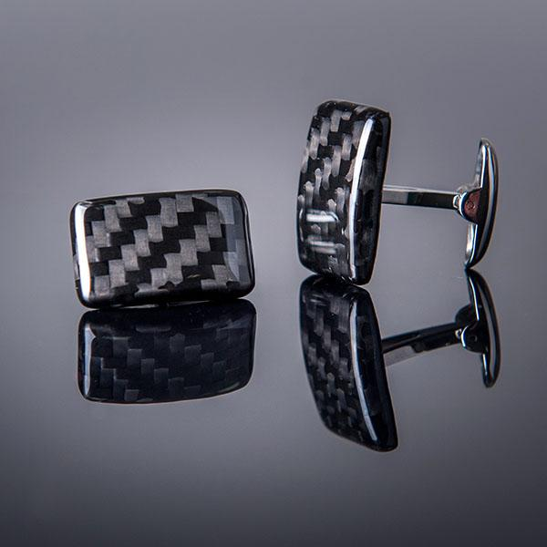 Carbon Fiber Cufflinks High Gloss  Shop