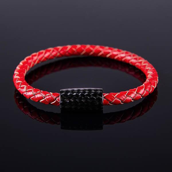 Карбонова гривна Red Leather