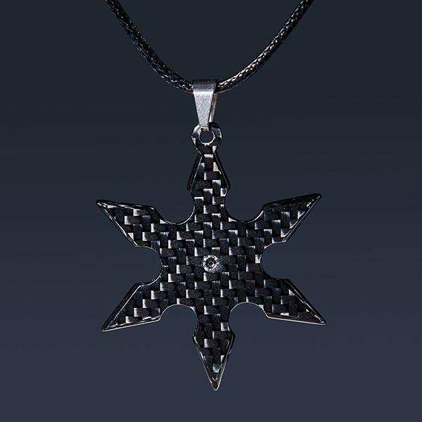 Carbon Fiber Pendant Shuriken High Gloss Shop