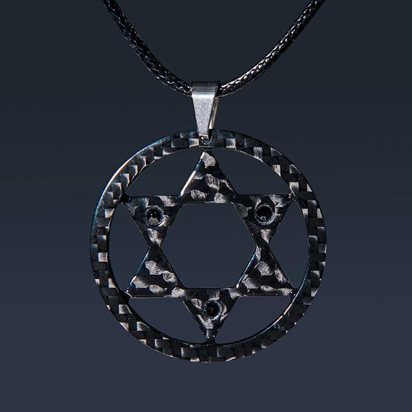 "MEN`S CARBON FIBER PENDANT ""SUPER STAR"" HIGH GLOSS Shop"