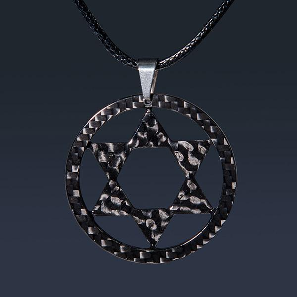 Carbon Fiber Pendant Super Star High Gloss