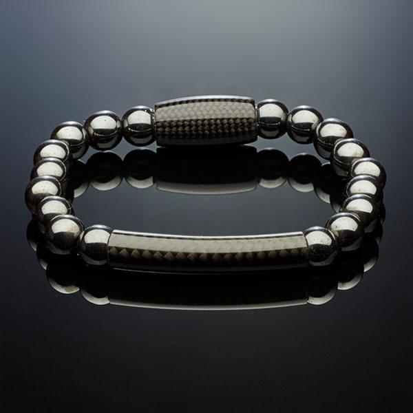 Carbon Fiber Bracelet Hematite with Tube Shop