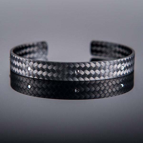 Carbon Fiber Bracelet Small White Stones Shop