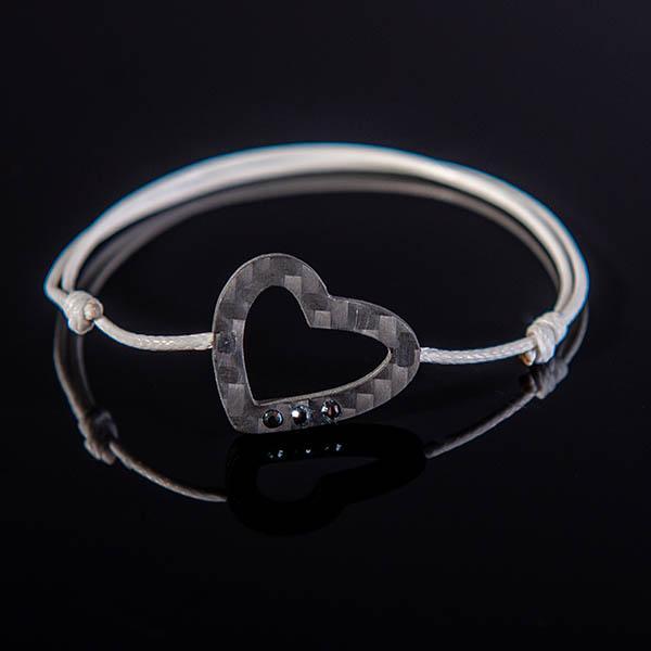Carbon Fiber Bracelet Heart Shop Zak Code