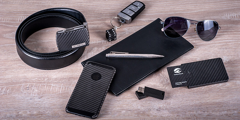 Men`s carbon fiber lifestyle accessories
