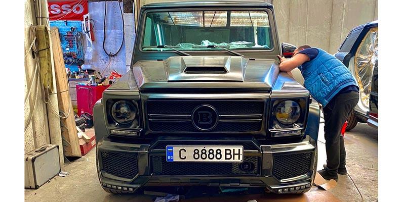 Mercedes G500 реставрация