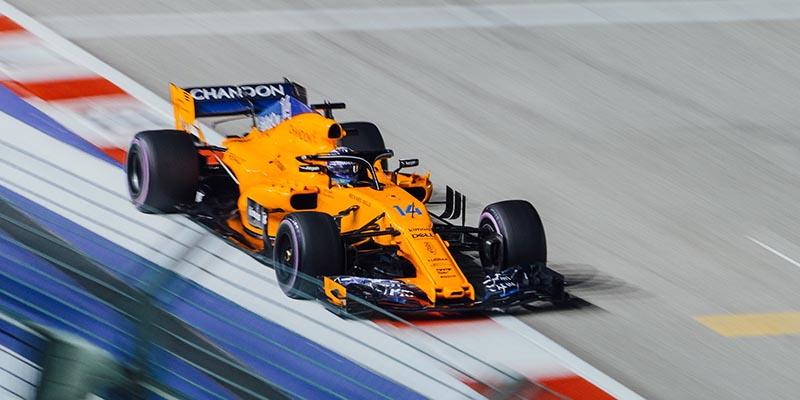 Формула 1 McLaren жълт булид