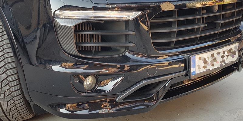 Карбонов преден въздуховод на Porsche Cayenne