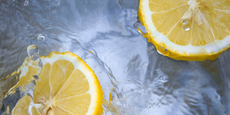 Lemon in water essential oil